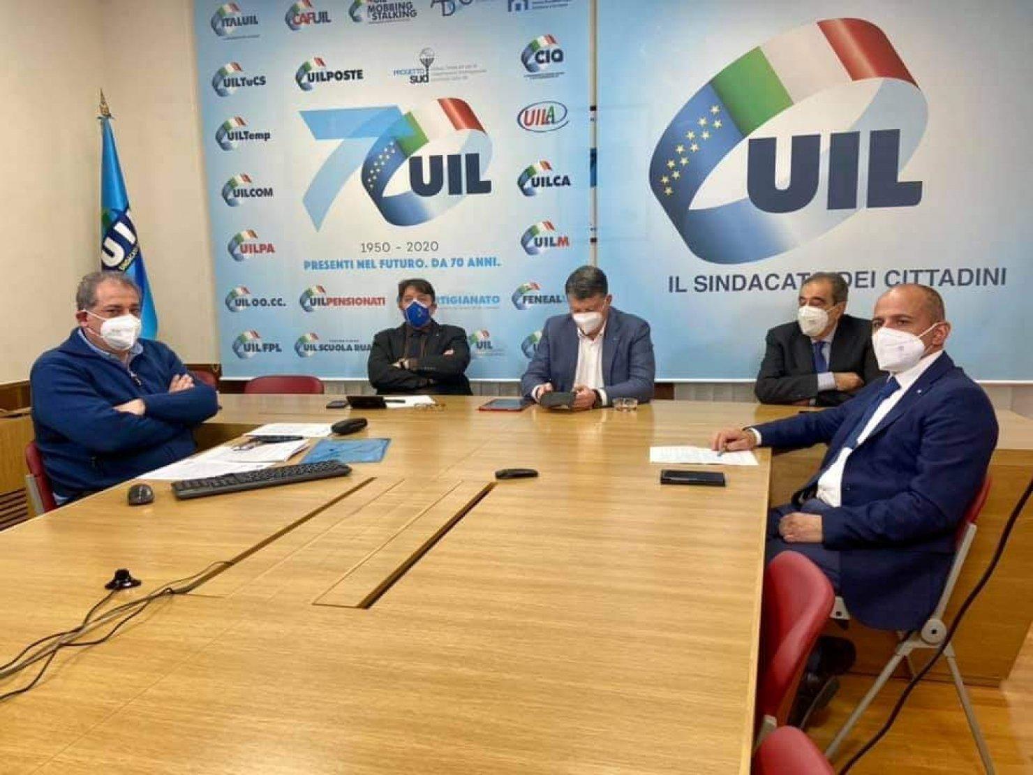 Primo incontro con il Ministro Brunetta dopo la firma dell'Accordo sottoscritto con il Presidente Draghi a Palazzo Chigi.